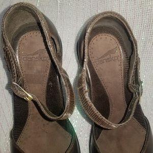 Dansko Shoes - Dansko Brown Roxy Leather Strap Heels sz 36
